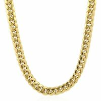 """10K Solid Yellow Gold Hollow 13mm Hollow Miami Cuban Link Chain Necklace 26"""""""