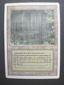 Magic: The Gathering DUAL LAND - Bayou - Revised - Unplayed - Gorgeous condition