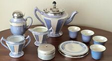 Fraunfelter Ohio Royal Rochester Lustre Lilac Teapot Strainer Cups Syrup Trivet