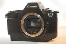 Canon EOS 650 35 mm FILM SLR Analog camera body SOLD AS IS parts repair READ