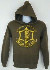 Tagos Israel Defense Forces Brown Hoodie Hooded Sweatshirt Small