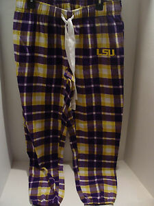 New LSU Tigers Ladies Pajamas Flannel Pajama Joggers Pants NCAA  Size Medium