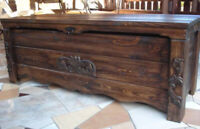 Wooden Blanket Box Coffee Table Trunk Vintage Chest Wooden Ottoman Toy Box BT2