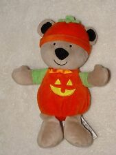 Carters Just One You Plush Pumpkin Teddy Bear Baby Rattle Rattle Halloween Toy