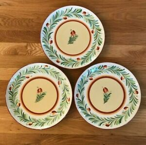 Lot of Three (3) SIENA Gail Pittman Garland Dinner PLATES Southern Living 41078