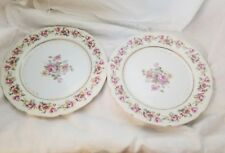 """Two Vintage Occupied Japan Gold Castle Hostess Pattern 8 15/16"""" Lunch Plate"""