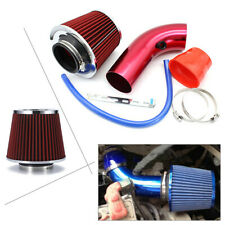 Car Cold Air Intake Filter Induction Kit Pipe Power Flow Hose System Red Alu