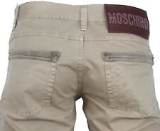 NEWT$100%AUTH MOSCHINO JEANS 100%COTTON SUMMER PANTS US 33X34