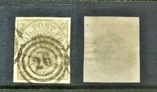 DENMARK Sc  15a  imperforated USED VF