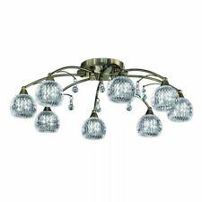 Jura Ceiling Light FL2296/8 8 Light Semi-Flush Cut Glass Shades Bronze NEW (F)
