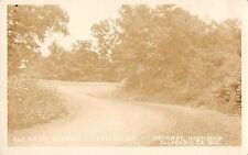 Allegany County Maryland curve on Polish Mt Nat'l Hwy real photo pc (Z10431)