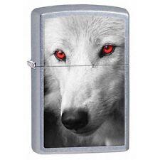 Zippo 28877 wolf red eyes street chrome finish full size Lighter