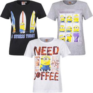 Minions T-Shirt Shirt Unisex Damen Herren schwarz grau weiß S M L XL