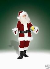 DELUXE VELVET SANTA SUIT ADULT CHRISTMAS HOLIDAY COSTUME SIZE STANDARD