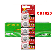 5Pcs 3 Volt CR1620 Button Cells Coin Batteries for Watch Camera RC Sturdy XJ