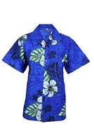 MENS HAWAIIAN SHIRT STAG BEACH HAWAII ALOHA  SUMMER HOLIDAY FANCY H BLUE COTTON