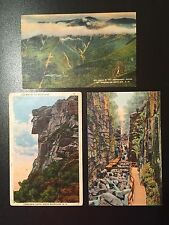 New Hampshire Flume Gorge Old Man Of The Mountain Franconia Classic NH Lot of 3