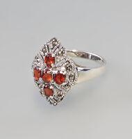 9927205 925er Silber Granat-Ring Markasiten Gr.56