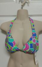 The Collection by Raisins NWT Size M Multi Extended Halter Bikini Top *see note*