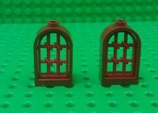 *NEW* Lego 1x2x2 Dark Red Grill Brown Arch Windows Bricks Castles - 2 pieces