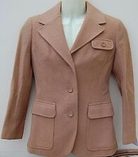 Alexon Beige Pure New Wool  fully lined formal Jacket Coat Mothers Day  UK 12