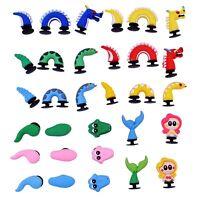 US Stock 31pcs 3D Shoe Charms Accessory Mermaid Dragons Alligators Kids Gifts