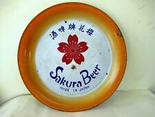 """Vintage Sakura Beer Japan Advertising Enamel Porcelain Sign Tin Tray Collectib""""F"""