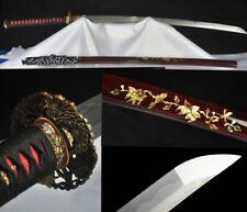 Hand Forge Japanese Samurai Sword Katana Folded Steel Sharp Blade Battle Ready