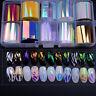 10Pcs Holographic Nail Foil Set Transparent Starry Sky Nail Art Transfer Sticker