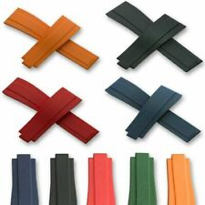20mm OysterFlex Watch Silicone Rubber For Rolex Strap Soft Band Clasp 5 Colours