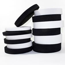 Black White Elastic Stretch Flat Cord Waistband Cuff Sewing Tailoring Craft