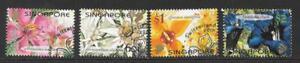 SINGAPORE SG1122/5 2001 FLOWERS FINE USED