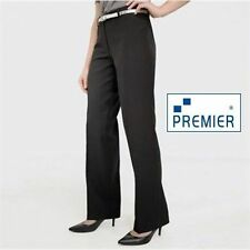 Polyester Mid Rise Plus Size Tailored Trousers for Women