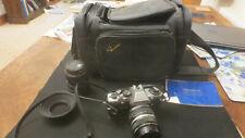 Olympus OM10 35mm SLR Camera, Zuiko 50mm, 28-70mm Tokina, 2x Teleplus MC4, bag