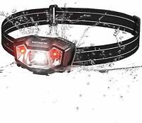 VicTsing Linterna Frontal LED Recargable con 50H de Autonomía Impermeable IPX6