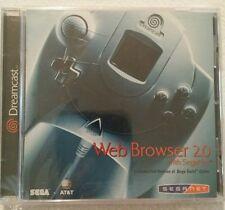 WEB BROWSER 2.0 w/SegaNet Sega DREAMCAST System w/Sega Swirl Video Game SEALED!!