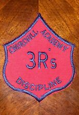 "4"" x 3"" Churchill Academy Discipline 3R's Patch Corrections Boarding FREE SHIP"