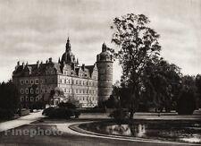 1924 Original SCANDINAVIA Photo Gravure Danish Denmark Vallo Castle Architecture