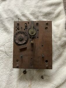 ANTIQUE SETH THOMAS WOODEN WORKS MOVEMENT GOOD CONDITION