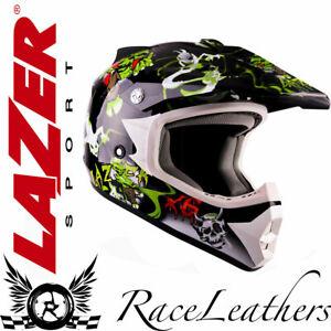 LAZER X6 BLACK GREEN MONSTRO MONSTER MOTORBIKE OFFROAD MOTO-X MOTOCROSS HELMET