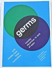 Germs Mini Concert Poster Reprint Unsigned-Colors Spreading Like Germs 14x10