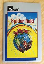 Spider Raid  by Insoft computer game 5.25 inch disk Apple II+,IIe,IIc,IIgs 1982