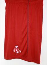 Mens Majestic MLB Boston Red Sox Red Polyester Logo Baseball Shorts
