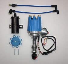 small cap OLDSMOBILE 350,400,403,455 PRO SERIES BLUE HEI Distributor +Black Coil