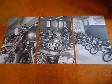 TRIUMPH MOTORCYCLE DEALER SHOWROOM SET 1969 1970 WALL ART B&W 24X36 POSTER SIGN