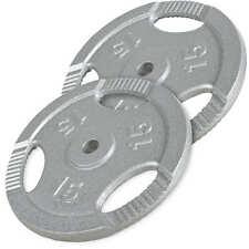 Gorilla Sports conjunto de discos mancuernas cast Iron pesa 30kg-2x15kg