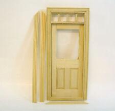 Zimmertür Tür Naturholz mit Türzarge Plexiglas Puppenhaus 1:12 Diorama 1:18