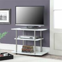 "Convenience Concepts Designs2Go 32"" 3 Tier TV Stand in White"