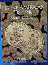 HE Harris Native American Dollar Starting 2009 Coin Folder, Album Book #3162