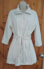 La Redoute Laura Clement Creation white belted rain trench coat UK 10 chic